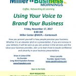 Vince Lancella and Brian Cohen at the Miller Business Center